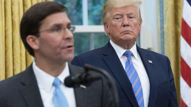 رئیس پنتاگون از مخالفت با اعزام نیرو به واشنگتن صرفنظر کرد/ کاخ سفید: اسپر در سمتش باقی است