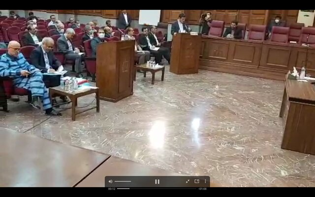 قرائت کیفرخواست اکبر طبری توسط نماینده دادستان
