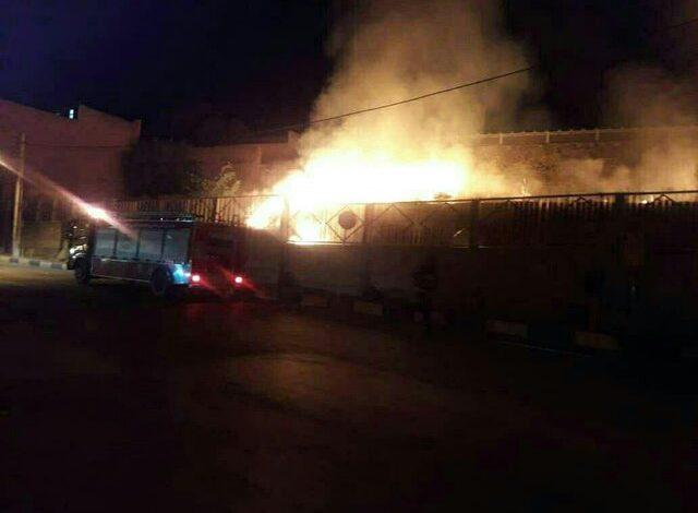 آتش سوزی در محوطه کلیسای مریم مقدس
