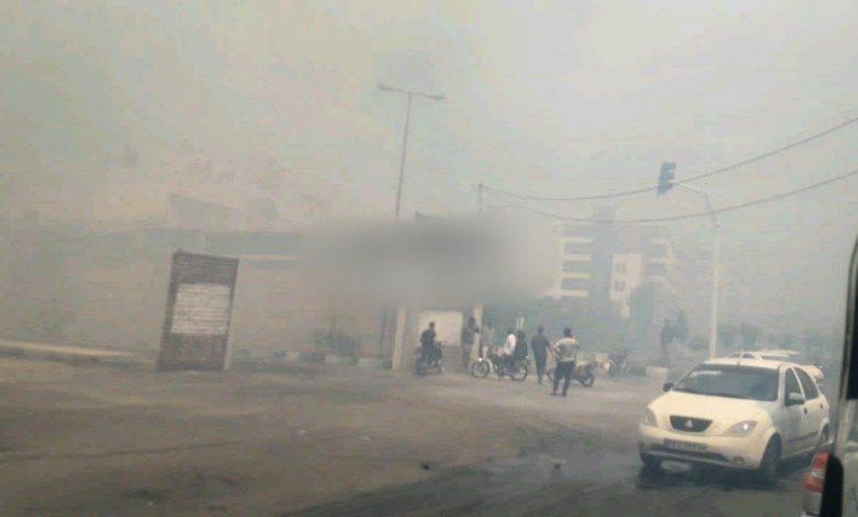 آتش سوزی گسترده در منطقه سالاریه قم